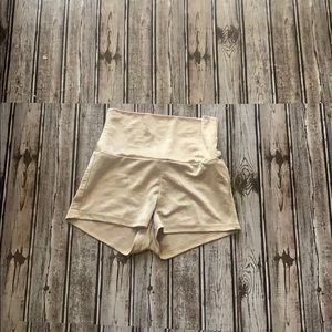 Silk gold shorts